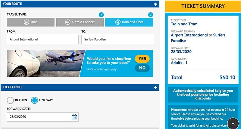 布里斯班去黄金海岸怎么去?火车接轻轨的价格