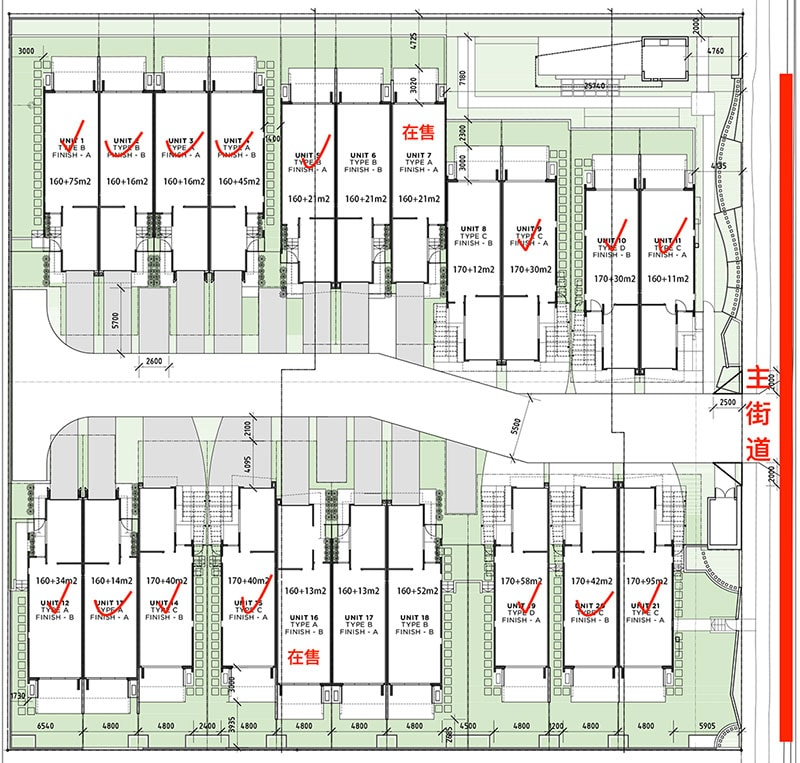 澳洲黄金海岸别墅Serenity On Hillview项目布局图