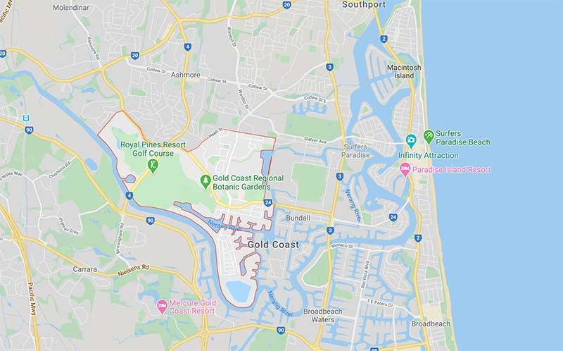 澳洲黄金海岸介绍-Benowa Google地图